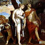 Venus y Mercurio presentan Anteros a Jpiter por Veronese, Paolo