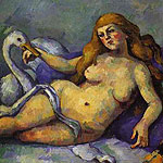 Leda con Cisne por Czanne, Paul