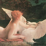 Leda y el Cisne por Tillier, Paul