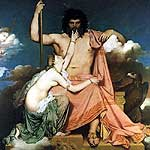 Tetis implorando a Zeus por Ingres, Jean-Auguste-Dominique