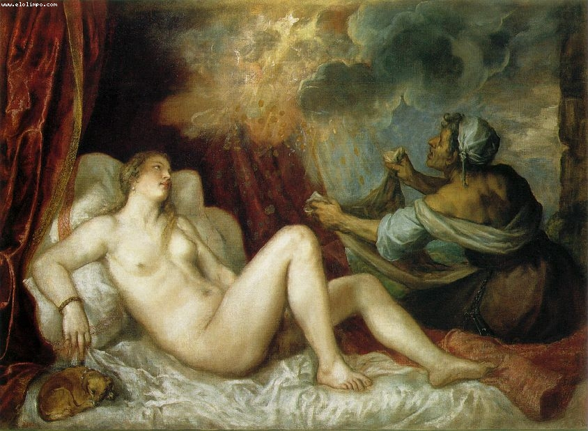Dnae y la lluvia de oro - Vecellio, Tiziano