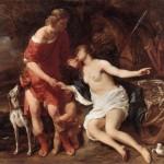 Venus y Adonis por Bol, Ferdinand